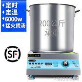 商用電磁爐6000w大功率平面台式鹵水煲湯爐飯店廚房電磁灶 1995生活雜貨NMS