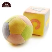 SHILOH嬰兒玩具寶寶認知新生兒球和數字方塊毛絨布藝搖鈴套裝