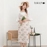 東京著衣-tokichoi-清甜韓妞碎花細肩帶洋裝-S.M(180258)