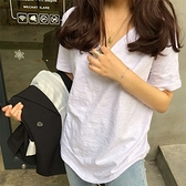 白色短袖T恤女寬鬆大碼2021年夏季竹節棉打底衫新款超火ins上衣潮 黛尼時尚精品