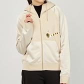 Nike Nsw Icn Clsh FZ Flc 女款 奶茶 金勾 寬鬆 連帽 外套 DC0651-140