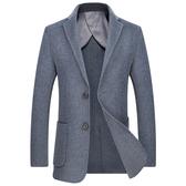 毛呢大衣-休閒修身短款羊毛男西裝外套3色73wk20[巴黎精品】