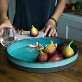 創意家用盤子托盤盤子餐盤菜盤陶瓷盤子茶盤水果盤陶瓷茶具石   LannaS