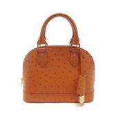 LOUIS VUITTON  橘色駝鳥皮手提斜背包 ALMA BB N91236 【二手名牌 BRAND OFF】
