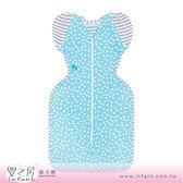 【嬰之房】澳洲 Love To Dream Lite 50/50 可穿著式半袖輕薄款包巾/蝶型包巾(藍色白點)