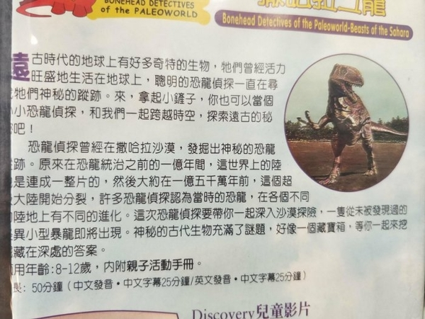 挖寶二手片-P17-173-正版VCD-其他【恐龍偵探系列:撒哈拉之龍】-自然類(直購價)