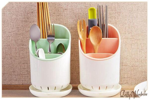 ☆Dolly生活館*╮廚房用品 廚房餐具分層收納筷子湯匙瀝水筒/筷子盒/湯匙盒 4色 20773