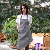 圍裙廚師圍裙男士服務員工作服美甲時尚工作圍裙廚房做飯圍裙 宜品居家館