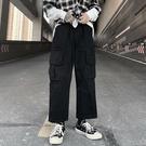 2020春秋季新款潮流ins復古純色休閒工裝褲口袋寬鬆學生直筒運動 蘿莉小腳丫