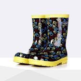 雨靴 卡通萌橡皮鴨男童女童兒童雨鞋男女孩秋冬雨靴兒童雨鞋  萬客居