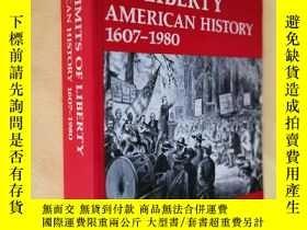 二手書博民逛書店英文原版罕見美國歷史 The Limits of Liberty: American History 1607-1