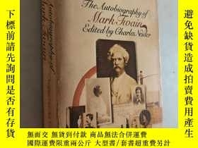 二手書博民逛書店THE罕見AUTOBIOGR APHY OF MARK TWAI