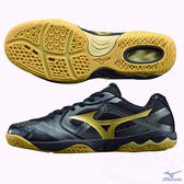 MIZUNO美津濃 桌球鞋 (黑*金) WAVE MEDAL BIO CN 2 橡膠大底 81GA155009