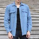 牛仔襯衫長袖寬鬆大碼夏季青年防曬薄款休閒工作服防曬外套 QQ24273『bad boy』