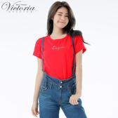 Victoria 前短後長落肩短袖T-女V85478(領劵再折)