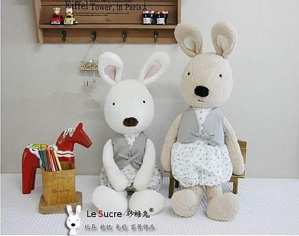 【發現。好貨】日本正品 le sucre 砂糖兔 法國兔娃娃(澎裙碎花30公分款)