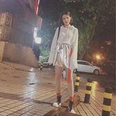618好康鉅惠 chic短裙金屬銀色a字半身裙女夏韓國高腰皮裙