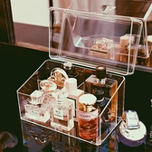 化妝品收納盒 香水收納盒防塵壓克力香水小樣展示架ins放口紅化妝品的置物架子【幸福小屋】