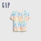 Gap男幼童 布萊納系列 童趣印花圓領T恤 681411-棕櫚樹印花