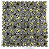 VERSACE太陽圖騰純棉手帕領巾(灰白色)989017-10