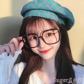 眼鏡框黑框眼鏡女網紅款有韓版潮復古護眼睛框架平光大圓臉顯瘦 suger