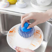 ♚MY COLOR♚不傷鍋新型清潔球 手柄 廚房 洗碗 餐具 去汙 百潔 菜瓜布 擦布 泡沫 碗盤【M130】