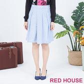 RED HOUSE-蕾赫斯-點點打摺裙(淺藍色)