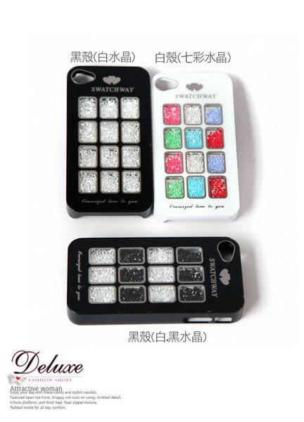 ☆Deluxe☆時尚新潮~繽紛馬卡龍12格水晶iphone4/4s手機殼★三色