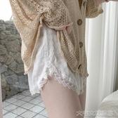 襯褲夏季薄款打底褲寬鬆短褲保險褲高腰時尚可外穿安全褲女蕾絲防 大宅女韓國館