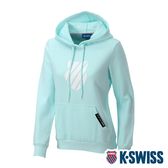 K-SWISS Shield Logo Hoodie刷毛連帽上衣-女-粉藍
