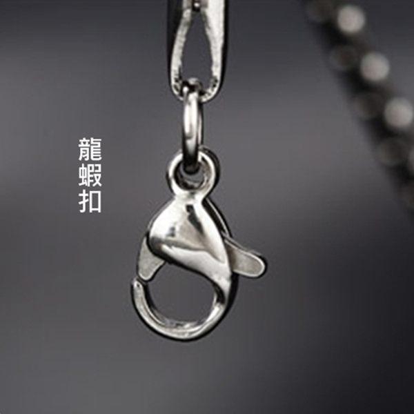 316L醫療鋼 狼牙浮雕圖騰 個性長粗項鍊-銀 防抗過敏 不退色