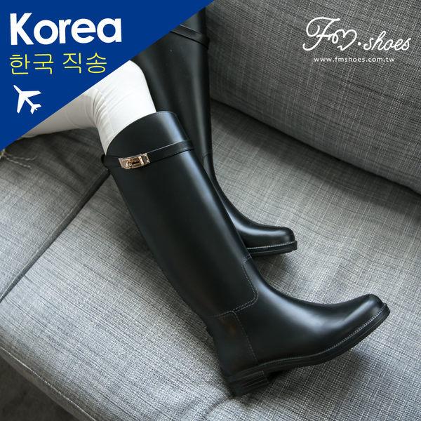 靴.必備百搭金扣長筒雨靴-FM時尚美鞋-韓國精選.Fresh