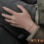 925銀手鐲女手飾品雙層閨蜜手鏈小眾設計冷淡風【倪醬小舖】
