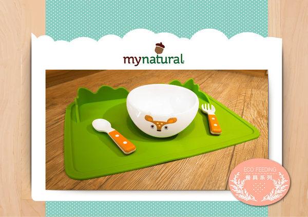 美國MyNatural無毒兒童餐具-矽膠餐墊(叢林綠)