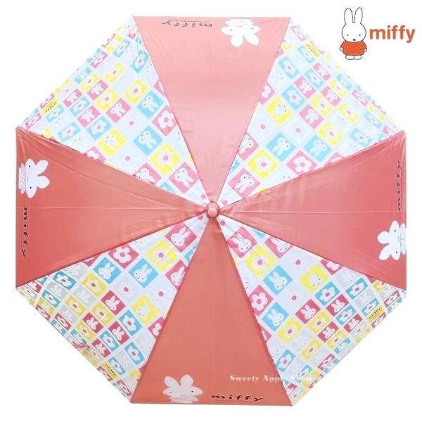 日本限定 miffy 米飛兔 格子 大臉版 雨傘 / 直立雨傘