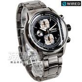 WIRED 43mm 男錶 黑x古銅灰電鍍 AF8U21X1 7T92-X271F 防水手錶