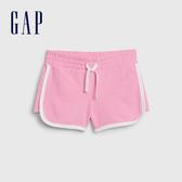 Gap女童棉質舒適鬆緊腰休閒短褲539694-螢光粉