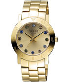 VOGUE 繽紛彩色晶鑽腕錶-金 2V1407-121YG-YG