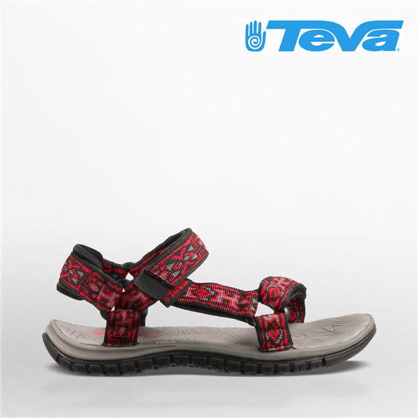 TEVA 女款 童鞋 水陸朔溪 戶外運動涼鞋 -紅 10004COLBC