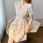 洋裝 刺繡碎花連身裙-媚儷香檳-【D1684】