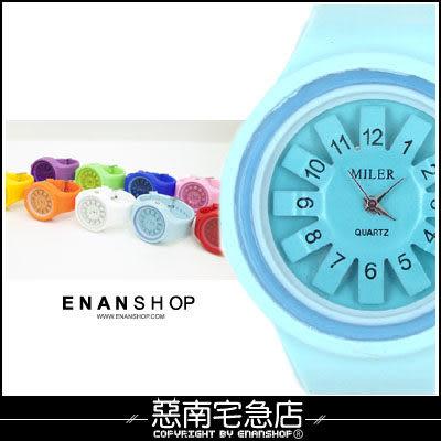 惡南宅急店【0327F】造型手錶‧男錶女錶『立體花紋』情侶對錶可‧方塊/圓形款