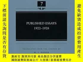 二手書博民逛書店Published罕見Essays: 1922-1928-發表論文:1922-1928Y436638 Eric