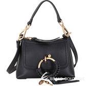SEE BY CHLOE Joan 迷你款 編織金屬圈牛皮兩用包(黑色) 1840503-01