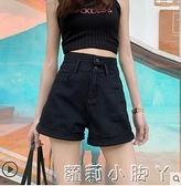 黑色牛仔短褲女超高腰顯瘦2021年夏季新款a字寬鬆超短褲齊腰小 蘿莉新品