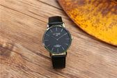 歐美時尚流行男女超薄簡約石英手錶韓版學生hotime大表盤皮帶手錶限時促銷!