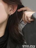 耳環S925純銀羅馬數字耳扣女耳環圓圈耳圈女氣質韓國耳釘簡約氣質耳飾  迷你屋 新品