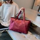 簡約行李袋手提短途旅行包大容量行李包輕便防水旅行袋休閒旅游包 小時光生活館