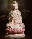 陶瓷南海觀音菩薩佛像客廳