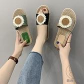 拖鞋女夏外穿時尚涼托外出平底一字拖潮流【貼身日記】