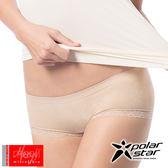 PolarStar 台灣 女 meryl® 奈米活性碳超細纖維 蕾絲三角平口內褲『裸色』P12436 低腰內褲│透氣│無痕